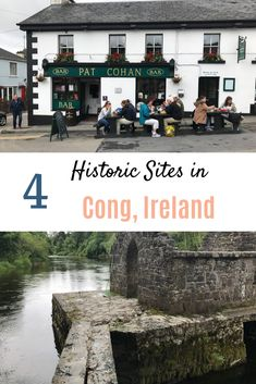 Ireland is full of historic places. Take a look at these four sites in Cong, Ireland that harken back to a day of horse drawn carriages and a slower pace of life. Dont miss out! #irelandhistoricsites #quietmanireland #congabbey #congsites