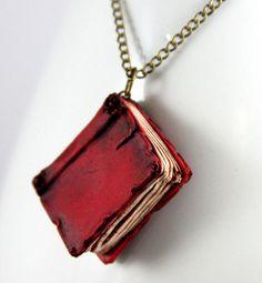 Beloved Red Book Necklace jewelry handmade by NeverlandJewelry