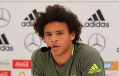 Leroy Sane of Germany speaks to the media during a press conference at the German national team's preEURO 2016 training camp on May 27 2016 in Ascona...