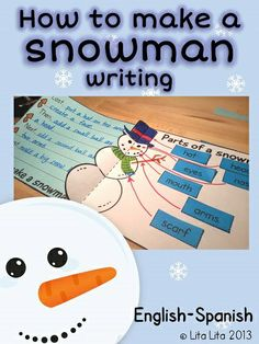 How to make a snowman & label the snowman writing activity Kindergarten Language Arts, Kindergarten Writing, Teaching Language Arts, Teaching Writing, Writing Strategies, Writing Lessons, Writing Ideas, Teaching Activities, Classroom Activities