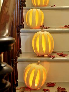 Turn a plain pumpkin into a masterpiece with these easy-to-create critters and creative carving designs.