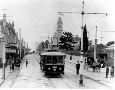 PH 8735. Electric tram heading north up Glenferrie Road, 31 May 1910.