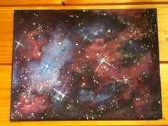 Galaxy painting wanna get one similar to this for my room!