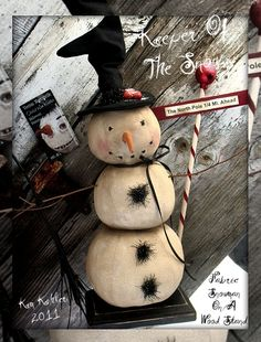 Veenas Mercantile Primitive Patterns by Kim Kohler Frosty The Snowmen, Cute Snowman, Snowman Crafts, Christmas Projects, Christmas Crafts, A Christmas Story, Christmas Snowman, Winter Christmas, All Things Christmas