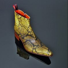 Also available in Red Python Print. Cowboy Boot Outfits, Cowboy Boots, Crocs Boots, Shoe Boots, Mens Fashion Shoes, Men S Shoes, Mens Snakeskin Boots, Rocker Boots, Metal Garages