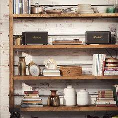 Marshall Acton, Marshall Stanmore, Marshall Speaker, Marshall Headphones, Interior Styling, Interior Design, Floating Shelves, Coffee Shops, House Interiors