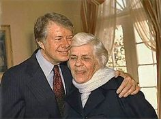 Jimmy Carter and his mother.