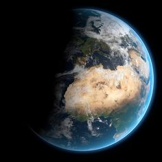 The Earth created in blender using NASA images