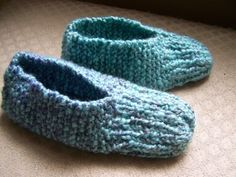 """knit slippers; called """"booties"""" in our family... Four generations have worn them (so far) - they are like wearing """"home"""" on my feet..."""