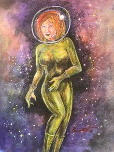 Space Girl, Science Fiction Art, Old West, Horror Art, Fantasy Art, Sci Fi, Zombies, Painting, Science Fiction