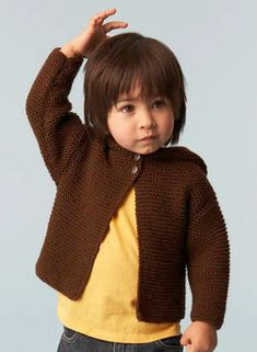 Free Knitting Pattern: Baby Hoodie. We're partial to this little sweater. :)