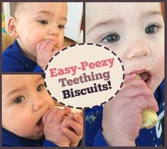 Even though Judah& first two teeth have finally cut through after three very long weeks of teething, he still likes to chomp down on crackers and teething biscuits. Homemade Baby Snacks, Homemade Crackers, Toddler Meals, Kids Meals, Toddler Food, Teething Biscuits, Baby Mine, Baby Led Weaning, Baby Store