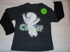 "Boys Glow in The Dark Halloween Shirt ""Casper The Friendly Ghost"" | eBay"