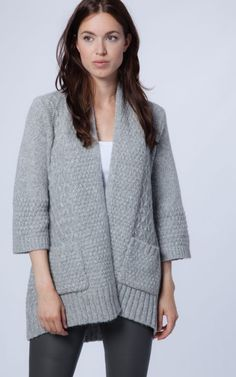 Chunky knitted cardigan by REPEAT