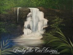 Waterfall in wOils  Sandy McTier Designs (c)2012 #sandymctierdesigns