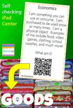 Opportunity cost economics from kelly sanchez on teachersnotebook economics task cards with qr codes fandeluxe Gallery