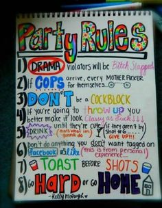 Funny pictures about Respect the party rules. Oh, and cool pics about Respect the party rules. Also, Respect the party rules. Frat Parties, Slumber Parties, Frat Party Themes, College Parties, Adult Slumber Party, College Party Games, College Fun, Bachelor Party Games, 18th Birthday Party Themes