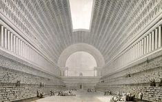 The project for the French National Library, designed by the visionary Étienne-Louis Boullée just three years before the French Revolution.