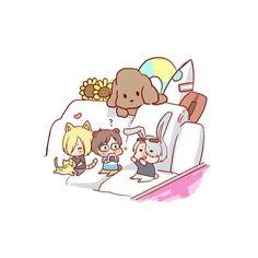 cUTE 🌈✨ • • pLs check it out the artist's tumblr!!!! And support their work! 🌈✨ • Artist: @ Siroite on tumblr 👈🏻 • • #yurionice #anime #yoi #yuriplisetsky #victuri #yurikatsuki #victuuri #viktuuri #yuurionice #yuurikatsuki #viktornikiforov #victornikiforov #vikturi #manga #otp #animeotp #maccachin #makkachin #ship #bl #yaoi #yurio #phichit #minamikenjiro #otabek #shipping #shounenai #animecouple #art #fanart