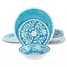 Melamine Dinnerware Sets, Tableware, Big Night, Dinning Table, Outdoor Settings, Summer Days, Decorative Plates, Teal, Indoor