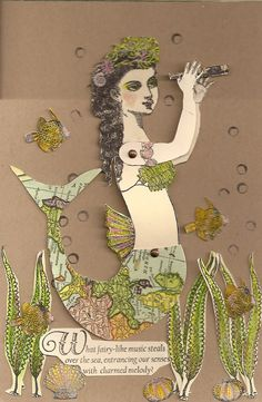 Card by Nancy Gene Armstrong working with stamps from Character Constructions She Sells Seashells collection.