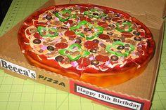 Amazing cake designs - food that looks like something, but tastes of something else?? #cakes #pizzacake