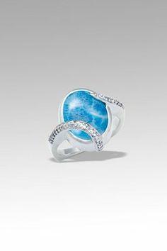 MarahLago Estrella Larimar Ring Larimar Diamonds Marahlago