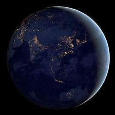 the earth by night