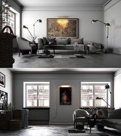 White Livingroom by aliihsan