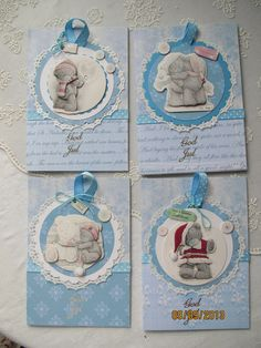 my Cards with toppers on /scallop decor.