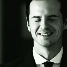 """Andrew Scott as Jim Moriarty His face yells """"kiss me"""""""