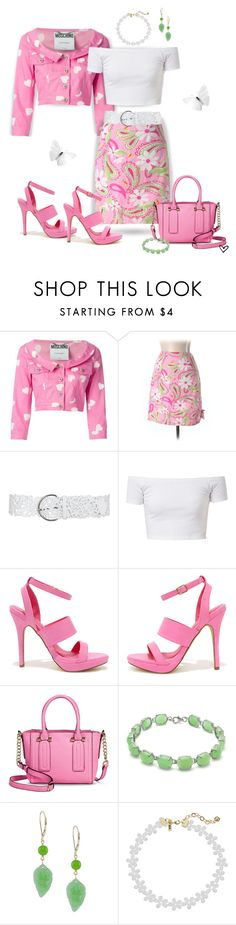 """~Lilly Pulitzer Paisley Skirt~ Pre-owned ~"" by justwanderingon ❤ liked on Polyvore featuring Moschino, Lilly Pulitzer, Fahrenheit, Merona, Vanessa Mooney and pinkjacket"