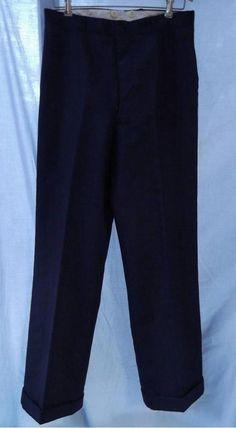 Vintage 1920s 1930s Pants Button Fly Blue With Subtle Dark Maroon Stripe Size 32   http://www.ebay.com/itm/271633192244?ssPageName=STRK:MESELX:IT&_trksid=p3984.m1555.l2649