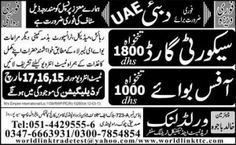 Urgent Jobs in World Link Trade Test and Technical Training Center