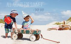Mini Boden Clothing | Boden US - Childrens Clothes... I'm just in love with that wagon!