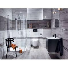 Płytka ścienna do wewnątrz pomieszczeń • Idealna do łazienki lub kuchni ✓ Ceramika Color Glazura Terra szara 25 cm x 75 cm połysk kup teraz w OBI!