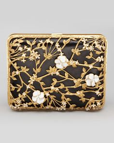 Alexander McQueen - Metallic Floral Rectangle Box Clutch  I don't always get McQueen but I'd like to get this gorgeous little bag. Anyone got $4K to lend me? Anyone?