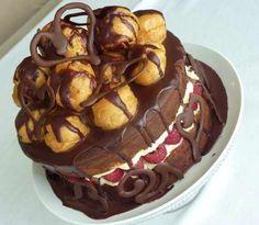 Chocolate Profiteroles Cake
