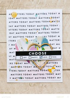 Choose Love by JennPicard at Project Life Album, Project Life Cards, Scrapbook Cards, Pocket Scrapbooking, Scrapbook Layouts, Studio Calico, Card Maker, Love Cards, Card Tags