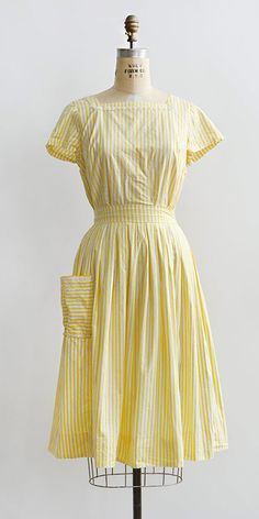 vintage 1950s yellow striped summer separates