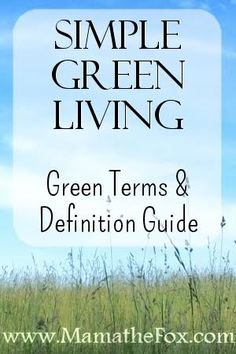 simple green living. Green terms & definition guide. What does paraben, SLS and other terms really mean and why should I care?