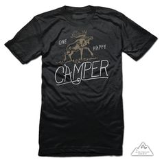 "Image of ""Happy Camper"" Adult Tee"
