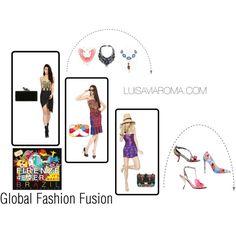 """""""Global Fashion Fusion"""" by elmarachma on Polyvore"""