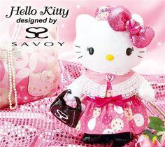 Hello Kitty plushie with SAVOY bag