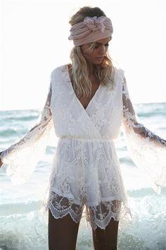Dentelle Playsuit #SaboSkirt #fashion #playsuit #lace