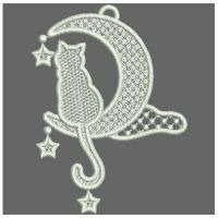 FSL Cats and Moon - Wind Bell Embroidery | OregonPatchWorks