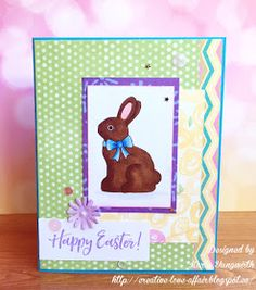 Easter cards using the new digital stamps in the March 2017 release from Pretty Cute Stamps!