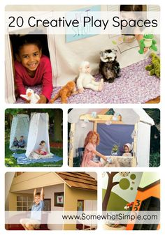 20 Creative Play Spaces for Kids somewhatsimple.com