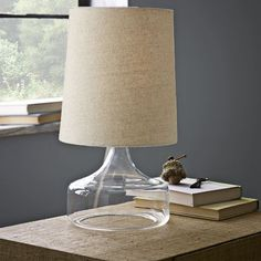 Perch Table Lamp - Clear | west elm// love this! want it for our living room