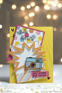 Card by SPARKS DT Taheerah Atchia PS stamp sets: Boob Tubes, We Totally Click; PS dies: Polaroid, Bam Bubbles